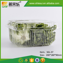 Transparent plastic grape packaging container for fruit and vegetable