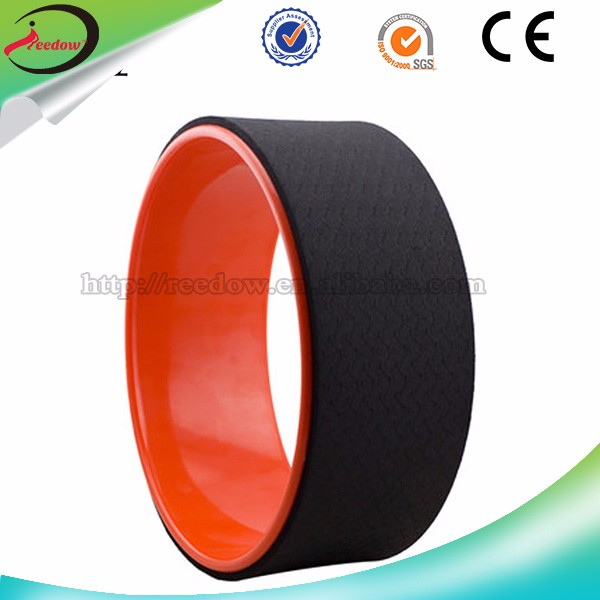 Tpe factory direct supply abs balance training back training yoga wheel for pilate cross texture yoga foam roller