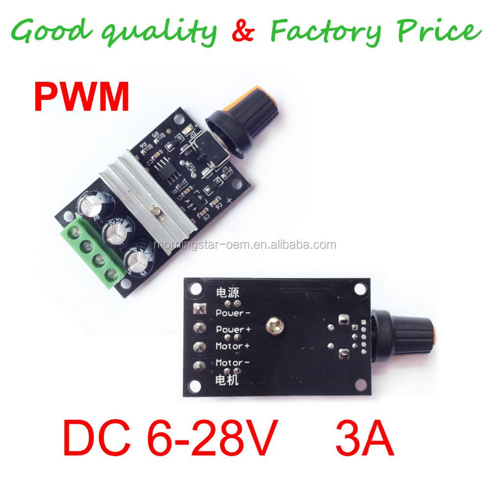 PWM DC 3A 6V 12V 24V 28V Motor Speed Control Switch Controller S!