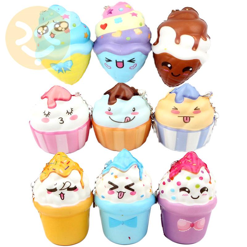 Wholesale Soft PU Toys Slow Rising Full Printed Squishy Toys Kawaii Japan Squishy Mini food squishy keychain