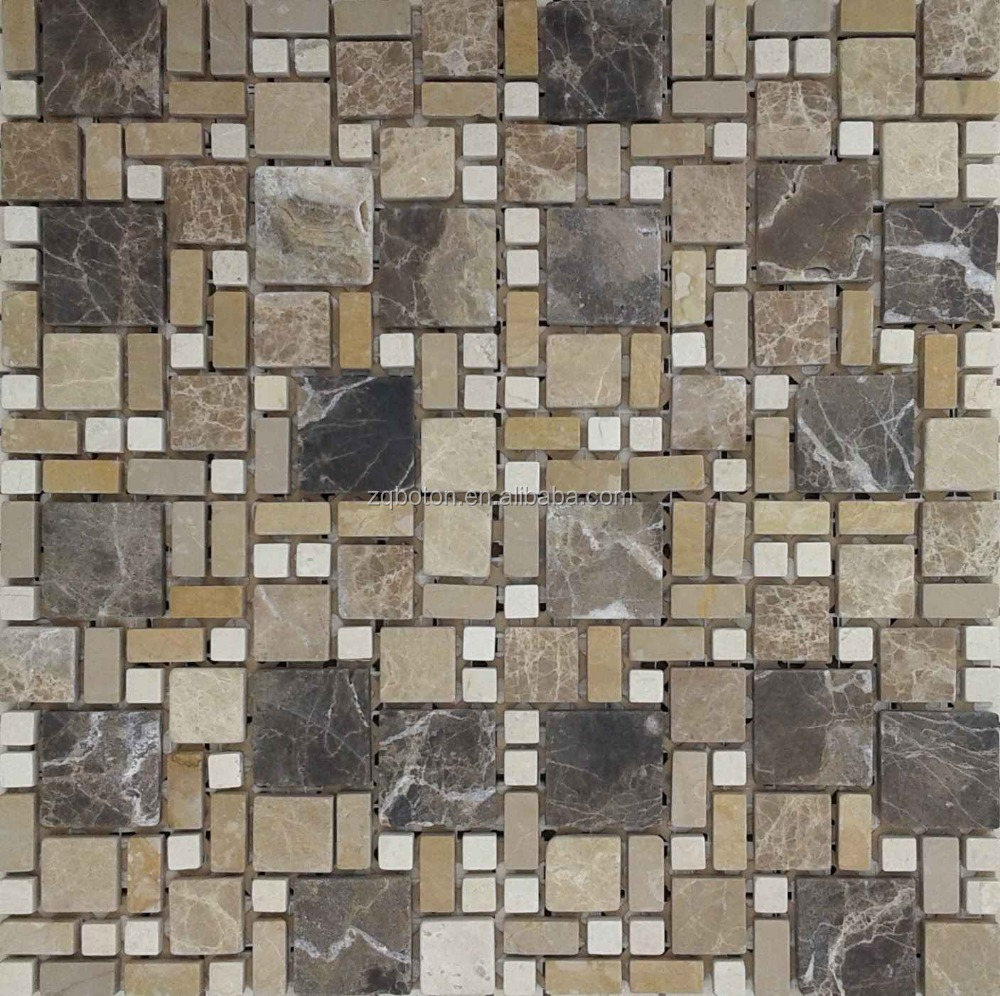 Marbre blanc mosaïque pour salle de bains carreaux de sol ou ...