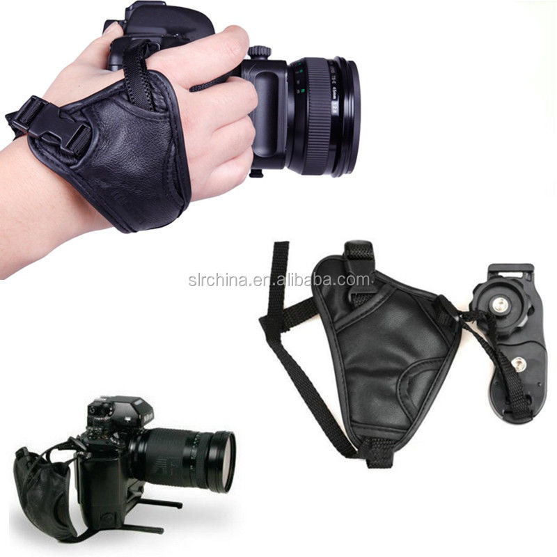 DSLR Camera PU Leather Grip Wrist Hand Strap Universal