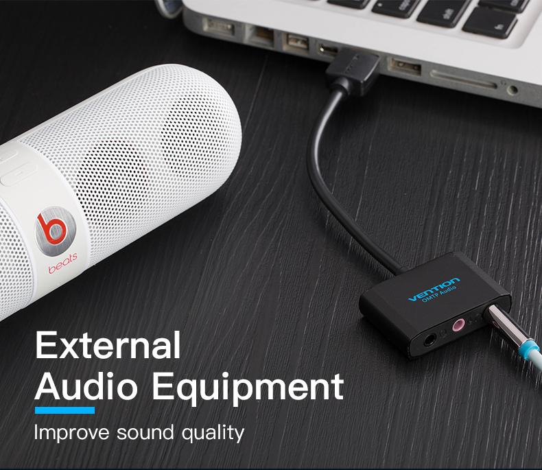Vention USB External sound card USB To 3 5mm Jack Femal Earphone Mic