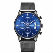 KIMSDUN Мужские кварцевые наручные часы Роскошные из нержавеющей стали с сетчатым ремешком повседневные мужские часы Rolexable часы Relogio Masculino 2019(Китай)