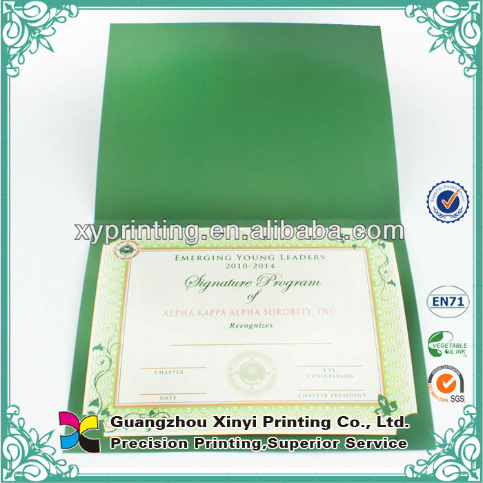 Fast delivery custom design security A4 certificate paper