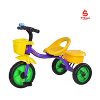 2019 new design 3 wheel baby trike change seat /europe standard kids tricycle /cheap child tricycle with big covered front wheel