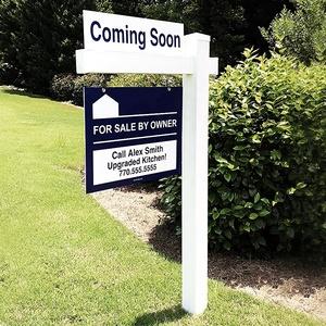 White Vinyl Pvc Real Estate Sign Post,Easily Assembled Vinyl Plastic Real Estate Sign Post