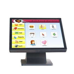 Top quality 17 inch Pure resistive touch screen high resolution all in one pos system waterproof Point Of Sale