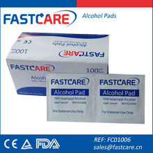 Medical antiseptic 70% isopropyl alcohol pad CE FDA