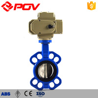 AC220V Actuator epdm seat motorized 10 inch butterfly valve