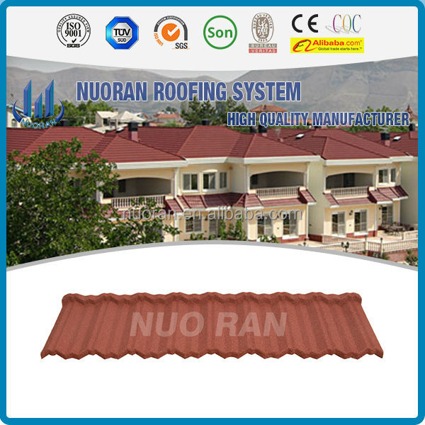 NUORAN tiles of portugal used Nosen type aluzinc metal roofing tile