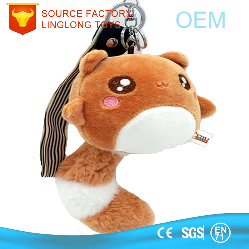 Oem Activity Gift Celebrate It Ornaments Individuality Cellphone Handbag Key Ring Chain Plush Squirrel Toy Anime Keychain
