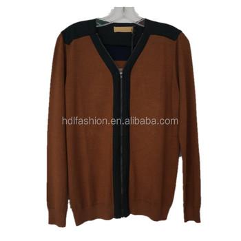Intarsia Knitting Pattern Men Cardigan Knitted Wool Sweater Buy