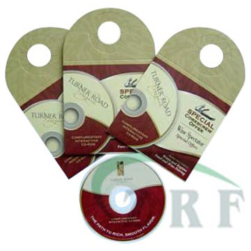 Professional Printed Custom Hang Tag Mini CD DVD replication