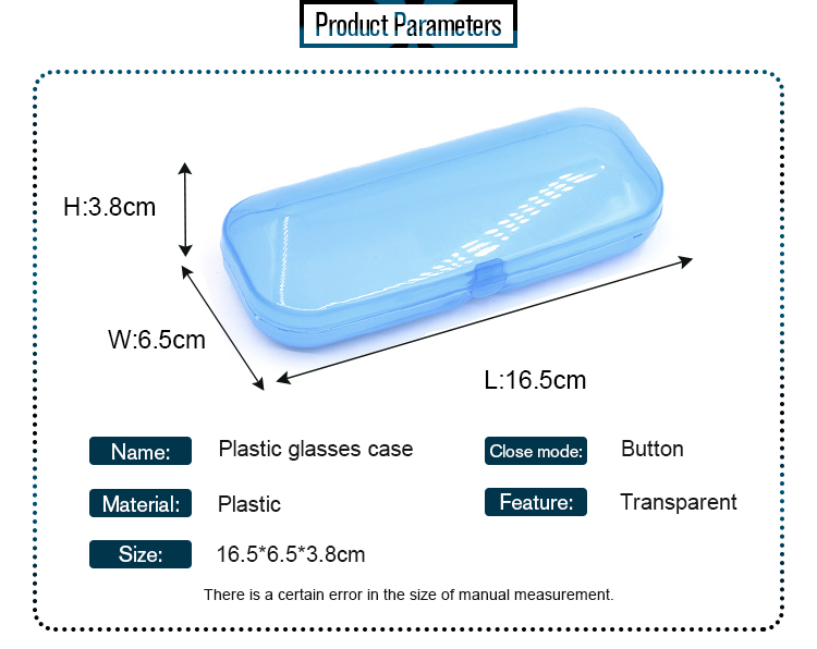 Eco-Friendly Cheap Clear Optical Plastic sunglasses box glasses case