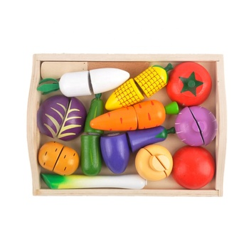 Pretend Play food Toys wooden kitchen toy cutting fruits and vegetables toys