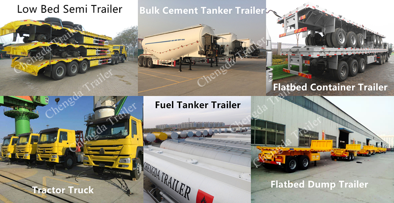 3 Axle 40T 50T 60T 100T Gooseneck Lowboy Low Bed Semi Trailer Dimensions Lowbed Truck Trailer For Sale