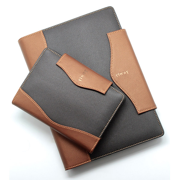Travel filofax leather organizer diary notebook agenda with 6 ring binders