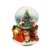 customized christmas souvenir resin water globe with LED or music