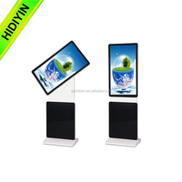 360 degree rotate lcd screen totem Android Wifi touch 55 inch advertising player