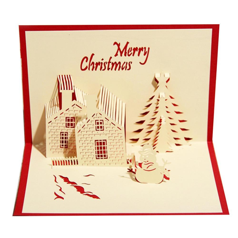 100pcs Christmas Castle Holiday Design Christmas Cards