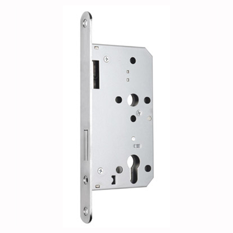High security Euro Profile stainless steel fireplace deadbolt cylinder mortise door lock set body with 72mm distance