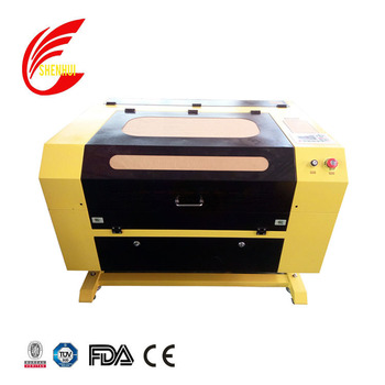 sh570 sh750 sh5070 50w 60w 80w reci co2 laser cutter laser engraving machine for rubber plastic coconut plywood mdf stone glass