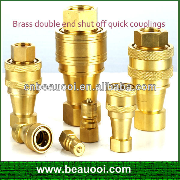 High Quality Brass Double End Shut Off Quick Couplings Pneumatic ...