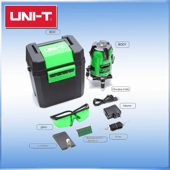 2 line 3 point green laser level with 360 fine-tuning knob UNI-T LM520G