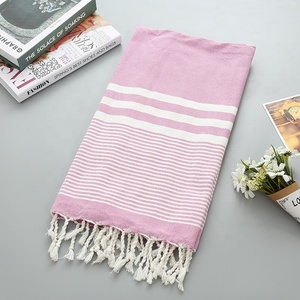 2019 Turkish Towel, InfuseZen Unique Thin & Absorbent BathBeach Towel and Pool Towel, Large Cotton Stone Washed Towel