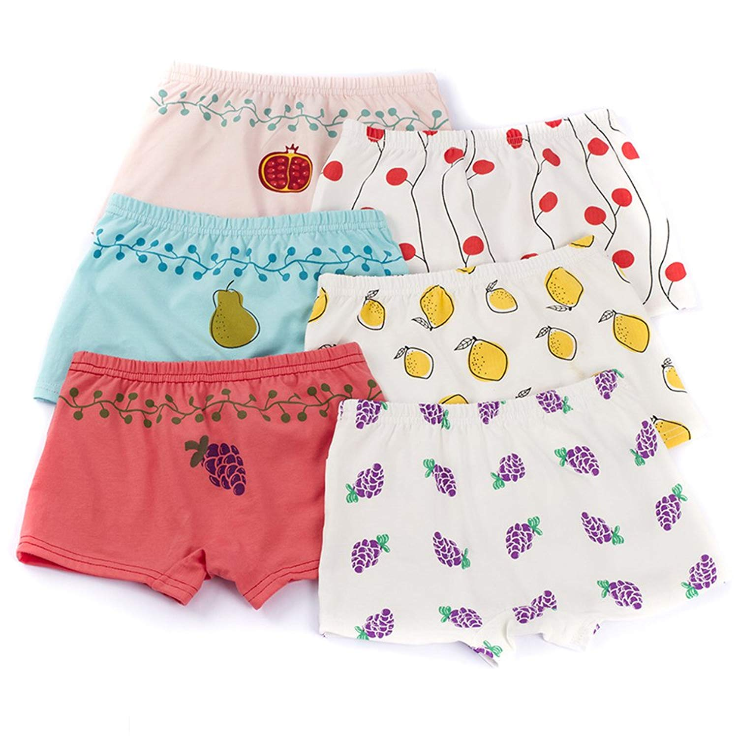 3ebf0e8c99f7 Get Quotations · U0U 6 Pack Little Girls' Hipster Panties Kids Girls  Hipster Underwear Soft Cotton Briefs For