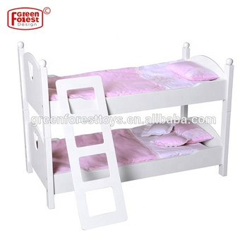 New Mdf Wooden Stackable Wooden Doll Bunk Bed Fits 18 Inch Dolls