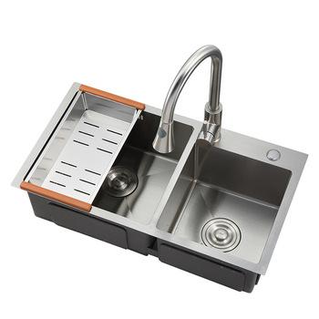 7541 Sanitary Ware Wash Basin Double Bowl Stainless Steel Handmade Kitchen Undermount Sink Buy Handmade Kitchen Sink Stainless Steel Sink Undermount