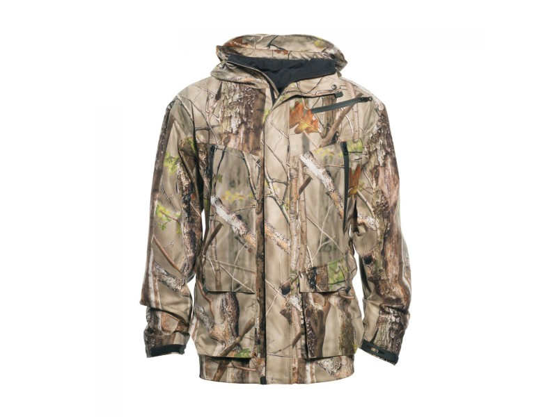 Wholesale mens winter outdoorwear woodland camouflage hunting jacket