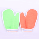 Wholesale supplier new fashion elastic cuff colorful Eco-friendly reusable body scrub bath mitt