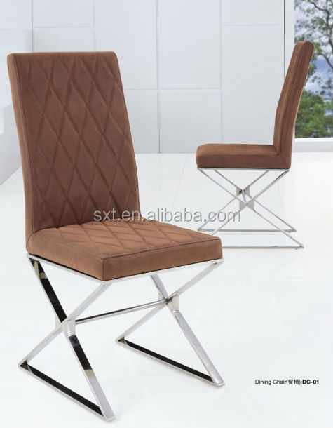 Modern design of PU or PVC, metal frame living room chairs