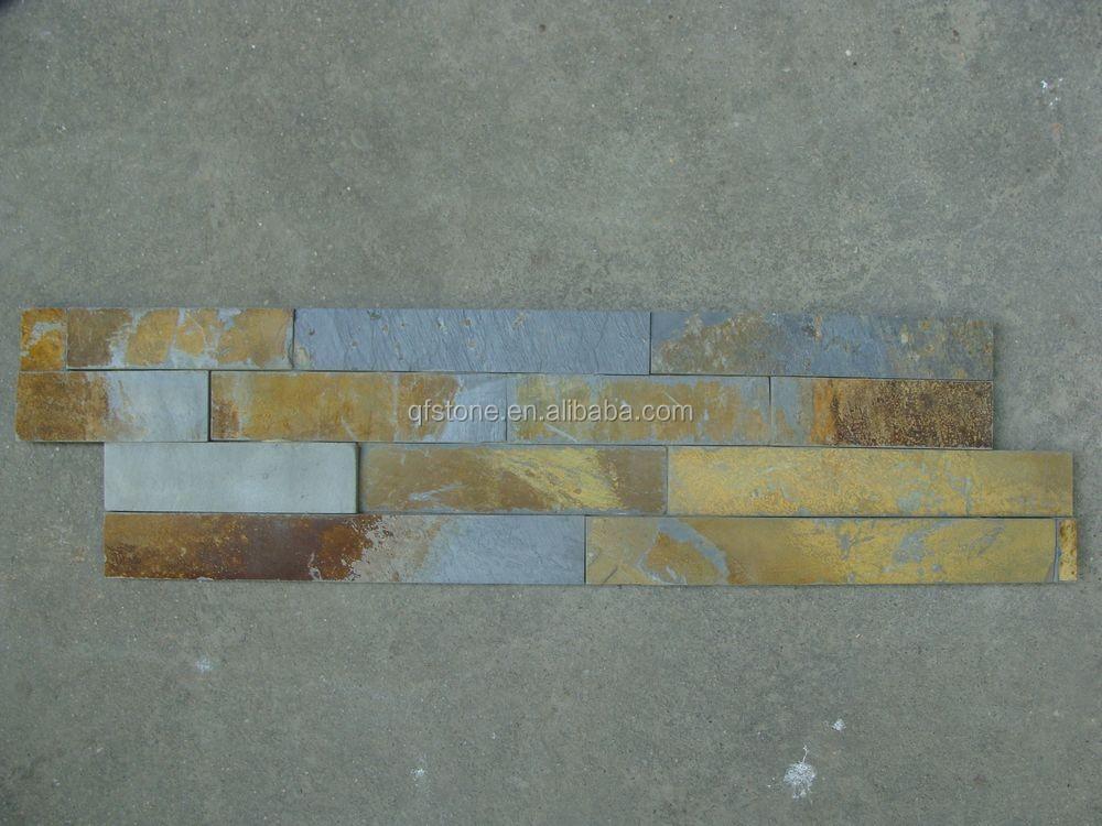 Cheap Black Stone Veneer Stacked Natural Slate Exterior Wall Panels Buy Stacked Natural Slate