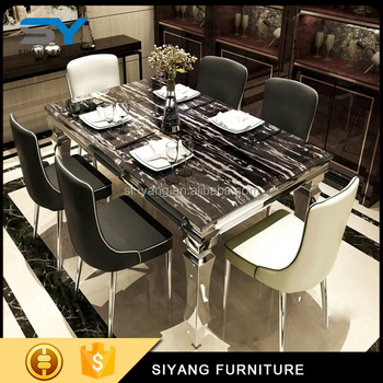 Oak Furniture China Stainless Steel Dining Table Price In India Ct004