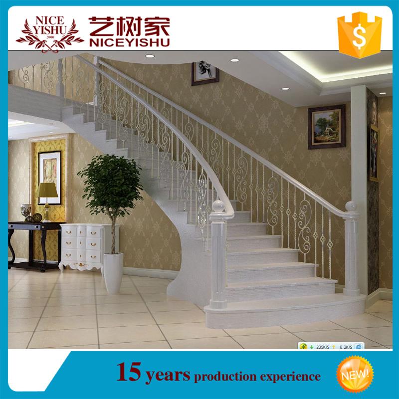 Usine directe gros balustrade en fer pour forg fer rampe d 39 escalier blan - Escalier direct usine ...