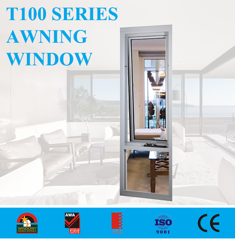 American style aluminum frame casement awing window with tinted glass