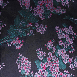Chinese style factory direct wholesale colorful 100%polyester plum blossoms woven jacquard fabric for cheongsam/jacquard dress