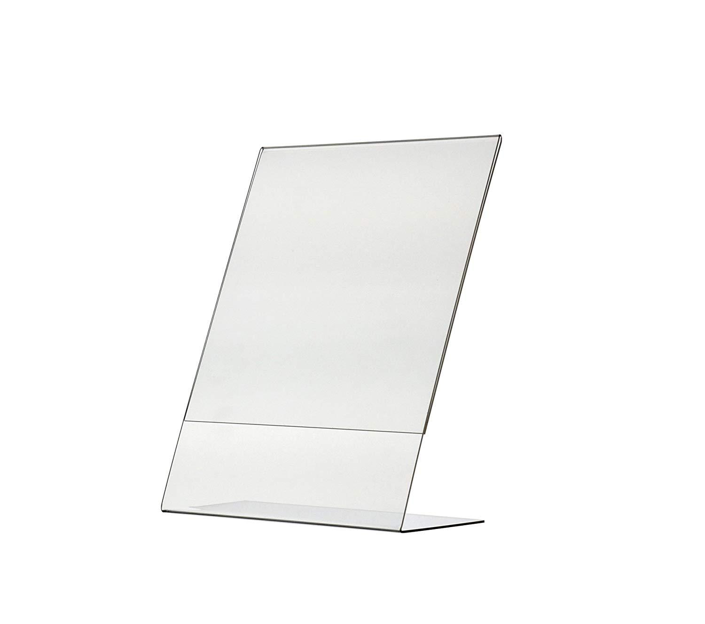 Advantage (144 Pack) 8.5 X 11 Slant Back Clear Acrylic Sign Holder Ad Frame by Advantage
