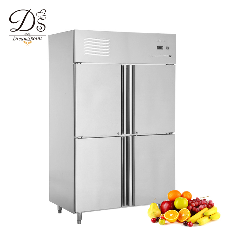 Industrial Restaurant Equipment heavy duty 4 Doors Fan Cooling Refrigerator
