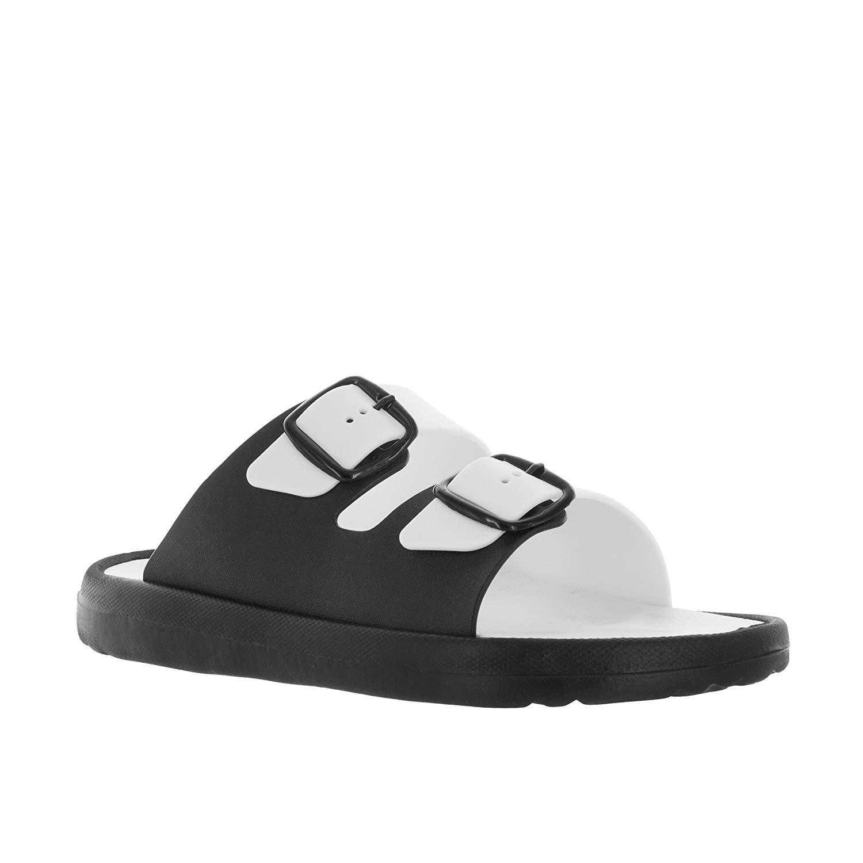 f69f85945 Get Quotations · VLADO Footwear Men s White Black Danni Vinyl Sandal US 11