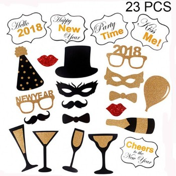 Happy New Year 2018 Funny Photo Booth Props Buy Photo Booth Props
