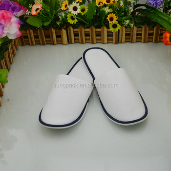 Custom High Quality Soft Bedroom Slippers For Hotel Amenities ...