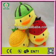 HI CE promotion lovely funny stuffed toy yellow chicken plush toy wholesale
