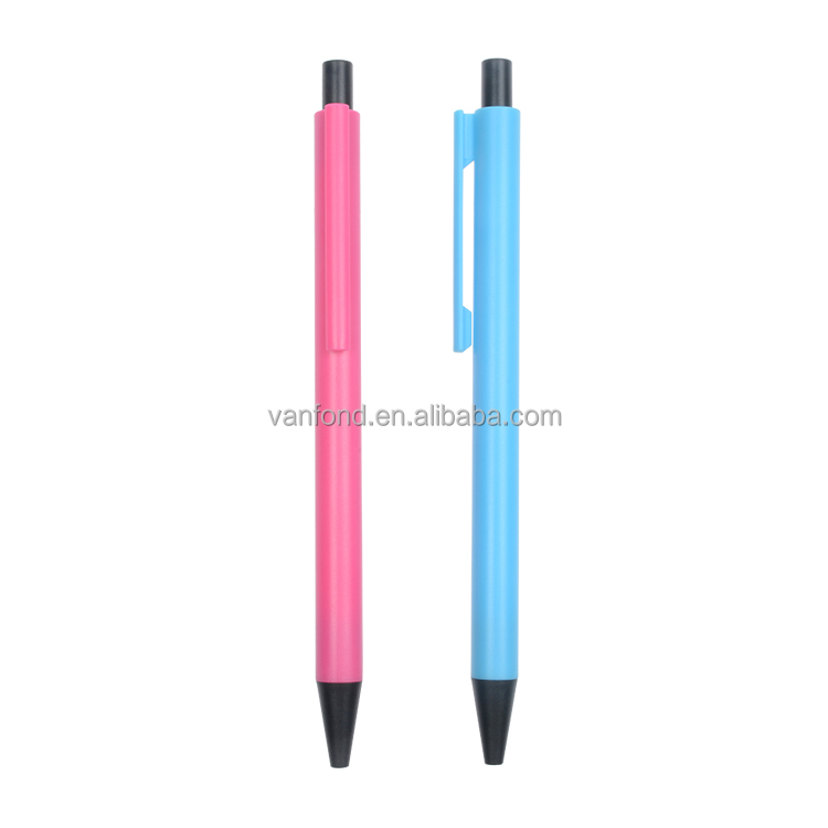 High Quality Hotel Used Slender Plastic Ball Pen Promotional