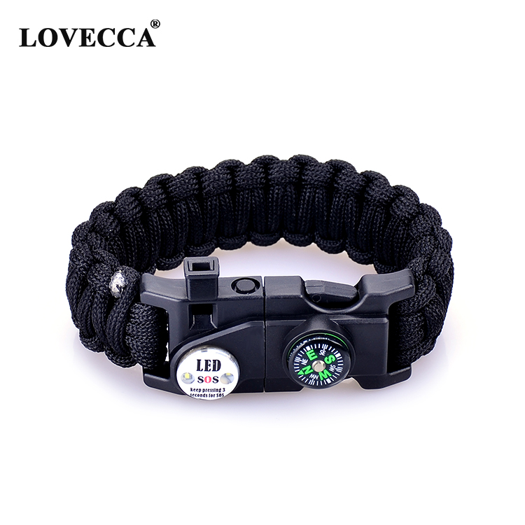 Popular Amazon hot selling Paracord Survival with led Bracelet фото