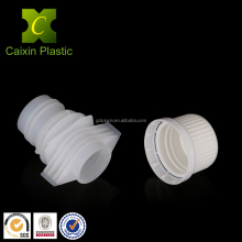 Plastic closure twist off cap and easy open pour spout for flexible packaging granules and liquid pouch bag